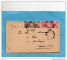MARCOPHILIE-lettre MALAY-cad- KUALA LUMPUR-1921- 4stamps-N °50+57 Pour Françe - Malayan Postal Union