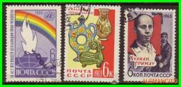 URRS  - RUSSIA - EUROPA  SELOS AÑO 1963