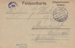 Kriegsgefangenensendung Lager Soltau 5.4.17, ZENSUR Soltau 63, Nach Maastricht, Prisoner Of War Letter - 1914-18