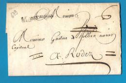 Lot Et Garonne - Montauban Pour Rodez (Aveyron). LAC De 1776 - Marcophilie (Lettres)
