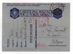 Italia Regno - 21.04.1942 - Cartolina Postale Per Le FF.AA. - Timbro Croce Rossa - Ospedale Attendato 79 - (FDC1309) - Guerra 1939-45