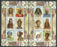 NAMIBIA 2002 TRADITIONAL WOMEN,HAIRSTYLES,HEADDRESSES  SHEETS  MNH - Namibië (1990- ...)