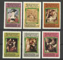 GRENADA GRENADINES 1978 RUBENS PAINTINGS SET MNH - Grenada (1974-...)