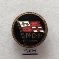 Badge (Pin) ZN003530 - Ship (Schiff / Boat) Navigazione Generale Italiana (N.G.I.) Genova - Schiffahrt