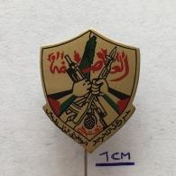 Badge (Pin) ZN003532 - Military (Army) Palestine Fatah Al-Asefa - Militaria