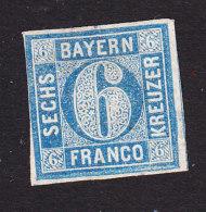 Bavaria, Scott #11, Mint No Gum, Number, Issued 1862 - Bavaria
