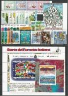 SAN MARINO - 1997 - Annata Completa - 36 Valori + 3 BF - Year Complete ** MNH/VF - Annate Complete