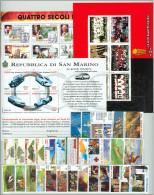 SAN MARINO - 1999 - Annata Completa - 31 Valori + 3 BF - Year Complete ** MNH/VF - Annate Complete