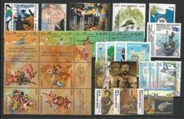 SAN MARINO - 2004 - Annata Completa - 32 Valori + 3 BF + 1 Libretto - Year Complete ** MNH/VF - Annate Complete