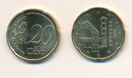 Andorra 2015 - ORIGINAL Amtliche 20 Cent Kursmünze - Stempelglanz Aus KMS - Vatican