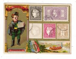 FRANCE  /  REPRESENTATION  DES  TIMBRES  DE  LA  POSTE  FRANCAISE  /  IMAGE  CHROMOLITHEE , Vers 1890 - Timbres (représentations)