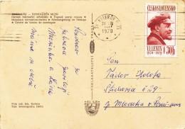 K9672 - Czechoslovakia (1970) Spindleruv Mlyn (postcard) Tariff: 30 H (stamp: V. I. Lenin, 100 Years 1870-1970)