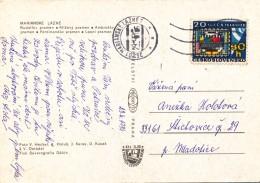 K9673 - Czechoslovakia (1974) Marianske Lazne (postcard) Tariff: 30 H (stamp: 20 Years Of Television Broadcasting)
