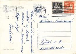K9677 - Czechoslovakia (1964) Praha 025 (machine Postmark) (postcard: Prague Castle) Tariff: 30 H (stamp: Castes) - Tschechoslowakei/CSSR