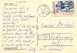 K9685 - Czechoslovakia (1979) 337 01 Rokycany 1 (postcard: Health Resort Janov, Mirosov) Tariff: 30 H (stamp: Folk Art)