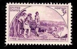 "1942 USA ""Daniel Boone & Frontiersmen"" Kentucky Statehood Stamp Sc#904 River"