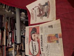 Lot 5 Journal Le Figaro A Thematique Bd Largo Winch  Angouleme Moebius Asterix - Wholesale, Bulk Lots