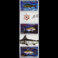 WALLIS & FUTUNA 2000 - Scott# 533 Fish Set Of 3 MNH