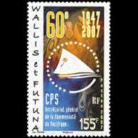 WALLIS & FUTUNA 2007 - Scott# 637 Secretary Set Of 1 MNH