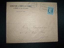 LETTRE TP CERES DE MAZELIN 1F30 OBL.MEC.9-5-1947 AMIENS GARE (80 SOMME) EXPOSITION DE TIMBRES DE FRANCE