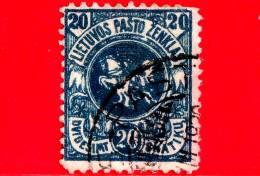 LITUANIA - LIETUVA  - Usato - 1921 - Stemmi Araldici - Edizione Di Kaunas Colorata - 20