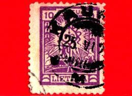 LITUANIA - LIETUVA  - Usato - 1923 - La Prima Emissione Standard Della Nuova Valuta - Crucifix - 10