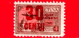 Nuovo - MNH - LITUANIA - LIETUVA  - 1922 - Posta Aerea Sovrastampa In Nuova Valuta - Castello Di Gediminas - 30 Su 4