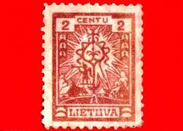 Nuovo - MNH - LITUANIA - LIETUVA - 1923 - La Prima Emissione Standard Della Nuova Valuta - Croce - 2
