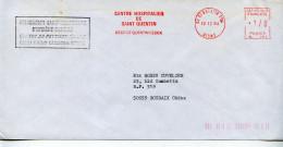 EMA Santé,Centre Hospitalier De St Quentin,hygiène Mentale,centre Psychotérapie Sur Lettre 12.12.1984