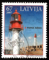 "Latvia , Lettland , Lettonia - 2007 Sea Lighthouse  Beacon, Pharos, Seamark ""Papes""  Used (0)"