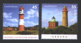 Deutschland ´Leuchttürme Borkum U. Arkona´ / Germany ´Isle Of Borkum & Cape Arkona Lighthouses´ **/MNH 2012