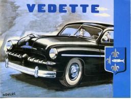PUB VEDETTE SOCIETE FRANCAISE FORD POISSY - Publicidad