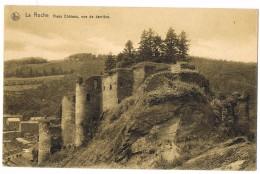 La Roche: Vieux Château, Vue De Derrière. (2 Scans) - La-Roche-en-Ardenne