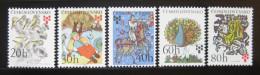 CZECHOSLOVAKIA Tschechoslowakei 1975 BOOK ILLUSTRATIONS SC# 2013-17 Kinderbuchillustrationen Mi# 2267-71 MNH Postfrisch