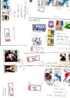 10 Lettres Recommandées  Avec Grand Format Bonne Cote Et Bon Tarif