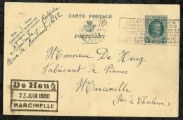 ENTIER POSTAL . CARTE POSTALE DATEE DU  :   21  JUIN  1930   . - Entiers Postaux