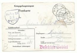 Carte Et Lettre De Prisonnier De Guerre Français. Stalag IIIA - 1940 Et 41 - Vers Manières 8-12-40 Et Somain - Marcofilie (Brieven)