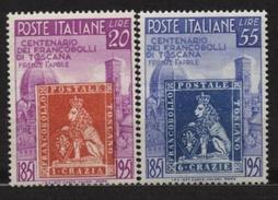 ITALIE Timbres ** Neuf N° 591 - 592   De 1951
