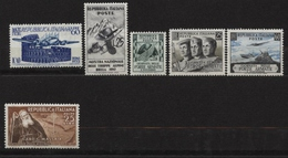 ITALIE Timbres ** Neuf N° 635 à 640    De 1952