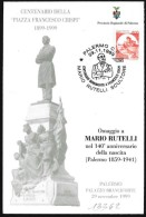 Italia/Italie/Italy: Francesco Crispi, Patriota, Patriot, Patriote - Monuments