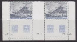 TAAF 1976 Passage De Cook A Kerguelen 2v (gutter, Printing Date) ** Mnh (33068P) - Franse Zuidelijke En Antarctische Gebieden (TAAF)