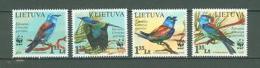 Lithuania C42 MNH 2008 4v Birds WWF Below Face