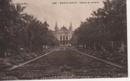 CPA - MONTE CARLO - CASINO EET JARDINS - 1930 - CAUVIN - Monte-Carlo