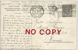 Targhetta Corriere Italiano Mata Hari Su Cartolina Firenze, Dante Alighieri, Giotto. Annullo Torino 19.5.1924. - 1900-44 Vittorio Emanuele III