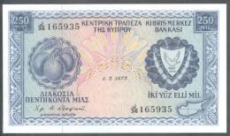 CYPRUS 1973 250 MILS BANKNOTE UNC - Chypre