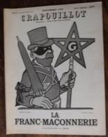 LE CRAPOUILLOT De Septembre 1938  : La Franc - Maçonnerie Par Raymond A .  Dior , Numéro Spécial TBE . - Boeken, Tijdschriften, Stripverhalen