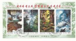 COREE DU NORD ANNEE 2004   BLOC OBLITERE THEME  NATURE - Corée Du Nord