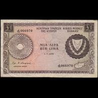 CYPRUS 1975 ONE POUND BANKNOTE F - Chypre