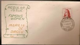 Brazil & FDC Women Famous, Marilia Dirceu, Santa Maria 1967 (815)