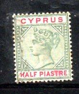 T127 - CIPRO 1894 , Tre Valori Usati CA - Cyprus (...-1960)